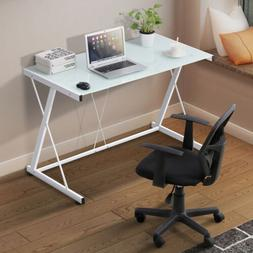 Glass Computer Desk Home Office PC Laptop Work Table Worksta
