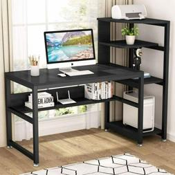 """Computer Desk with 4-Tier Storage Shelves, 58"""" Large Office"""