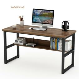 "Computer Desk with Bookshelf 47/55/63""Modern Style Writing T"
