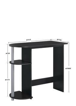 Mainstays Computer Desk with Built-in Shelves, Multiple Colo
