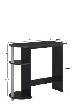 Computer Desk with Built-in Shelves for Extra Storage Durabl