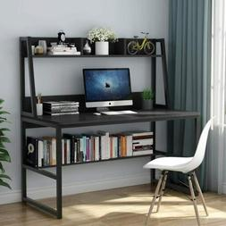 "Tribesigns Computer Desk with Hutch & Bookshelf, 47"" Home Of"