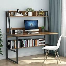"""Computer Desk With Hutch And Bookshelf, 47"""" Home Office Spac"""
