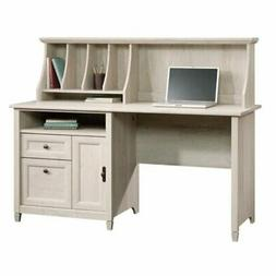 Bowery Hill Computer Desk with Hutch in Chalked Chestnut
