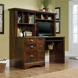 Pemberly Row Computer Desk with Hutch in Curado Cherry