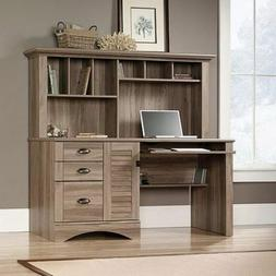 Computer Desk With Hutch Salt Oak Harbor View Workstation Ho
