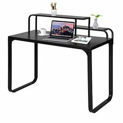 GreenForest Computer Desk with Shelves Industrial Style Lapt