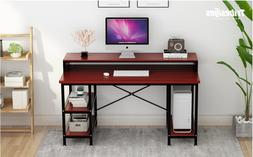 Tribesigns Computer Desk with Storage Shelves, 55 inch Large