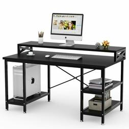 Tribesigns 55 inch Large Modern Computer Desk with Storage S