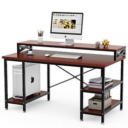 "Tribesigns Computer Desk with Storage Shelves, 55"" Large Mod"