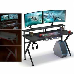 Computer Gaming Desk with Monitor Riser/ Cup and Headphone H
