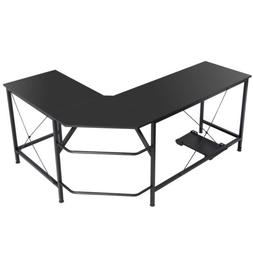 Computer Gaming Laptop Table L-Shaped Desk Corner Workstatio