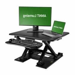 Computer Riser Height Adjustable Stand Desk with Retractable