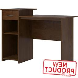 Contemporary Mainstays Student Home Desk with Drawer Shelves