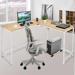 "Corner Computer Desk 59""x59"" L-shaped Large Home Office Tabl"