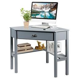 Corner Computer Desk Laptop Writing Table Workstation W/ Dra