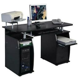 Corner Computer Laptop Desk Home Office Furniture With 3 Dra
