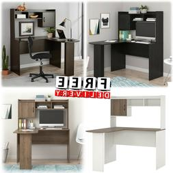 Corner Desk L Shaped With Hutch Computer Home Office Worksta