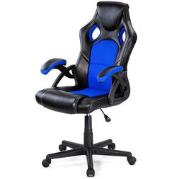 Costway PU Leather Executive Bucket Seat Racing Style <font>