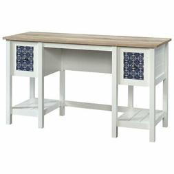 Sauder Cottage Road Writing Desk in Soft White and Lintel Oa