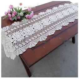 WSHINE Crochet Cotton Sofa Table Cover Lace Doilies Table Ru