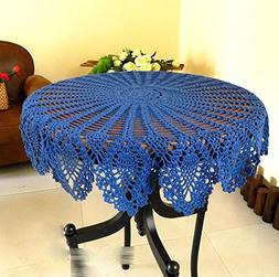 WSHINE Crochet Round Table Cover Lace Doilies TableCloth for