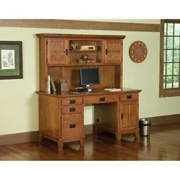 Desk Hutch Set Double Pedestal Home Office Desks Computer St