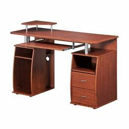 Techni Mobili Dual Complete Computer Workstation Desk With S
