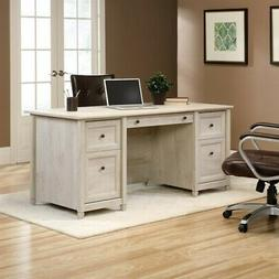 Sauder Edge Water Executive Desk 418795 Chalked Chestnut NEW