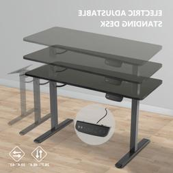 Electric Adjustable Standing Desk w/ Motor Computer Table Fr