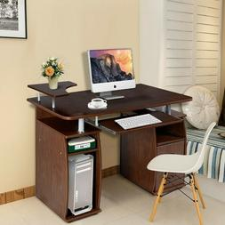 Erommy Office Computer Desk with Monitor Shelf