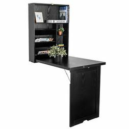 Floating Desk Wall Mounted Fold-Out Convertible Table Home L