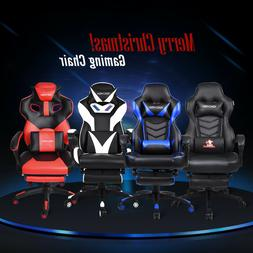 Racing Video Gaming Chair Pu Leather Recliner Office Compute