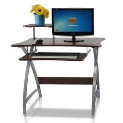 Furinno FNBL-22005 Besi New Office Computer Desk, Dark Wood