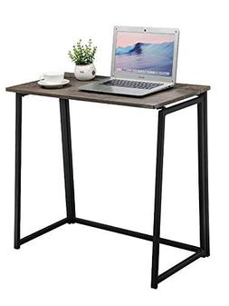 GreenForest Small Folding Computer Desk for Home Office Adul