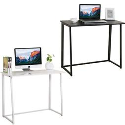 Folding Computer Desk Home Office Study PC Writing Table Fur