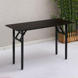 Folding Table Computer Desk Simple Metal Frame Laptop Study