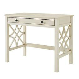 French Country Style Rectangular Antique White Computer Writ