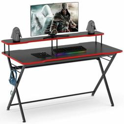 Gamer Computer Desk with Monitor Riser& Headphone Hook Ergon