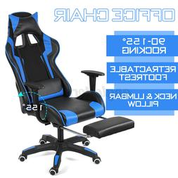 Gaming Chair Office Racing Style 155° Recliner Computer Sea