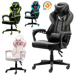 Gaming Chair Racing Leather Office Recliner Computer Desk Hi