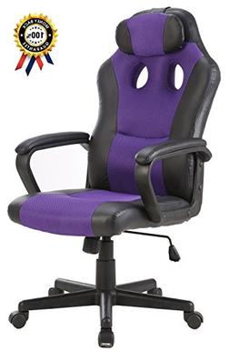 SEATZONE Smile Face Series Leather Gaming Chair, Racing Styl