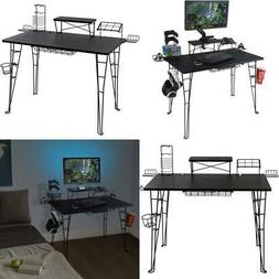 Gaming Desk 32 in Monitor Stand Small Computer PC Wire Acces