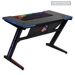 Kinsal  Z-Shaped Gaming Desk Computer Desk Table Fighting RG