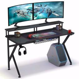 Tribesigns Gaming Desk with Monitor Riser, 55 inches Gamer C
