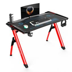 gaming style computer office desk with led