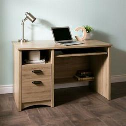South Shore Computer Desk with 2 Drawers and Keyboard Tray,