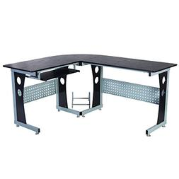 """GHP Home/Office 63""""x53.2""""Deepx29.5 H Black Durable Steel L-S"""
