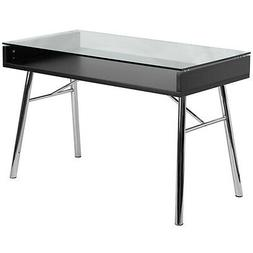 """Glass Computer Desk For Small Spaces – """"Flannery"""" Smal"""