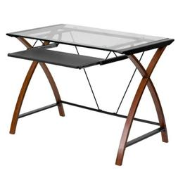 Glass Computer Desks For Home Keyboard Tray Laptop Table Mod